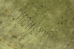 Números romanos Imagem de Stock