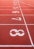 Números Running da trilha Fotografia de Stock