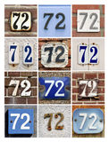 Números Seventy-two Fotografia de Stock