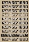 Números simples Imágenes de archivo libres de regalías