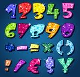 Números Sparkling Fotografia de Stock Royalty Free