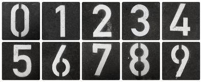 Números Stenciled Fotografia de Stock