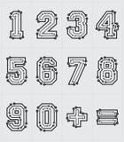 Números tecnológicos Foto de Stock Royalty Free