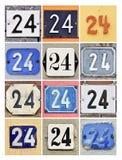 Números Twenty-four Imagens de Stock