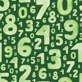 Números verdes Imagenes de archivo