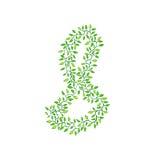 Números verdes ilustração stock