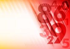 Números vermelhos Foto de Stock Royalty Free
