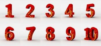 Números vermelhos Imagem de Stock Royalty Free