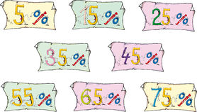Números vivos felizes e engraçados da cor Imagens de Stock Royalty Free