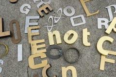 Números y cartas para la venta Fotos de archivo libres de regalías