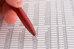 Números y finanzas Imagen de archivo libre de regalías