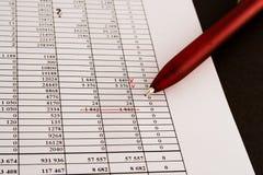 Números y finanzas Imagenes de archivo