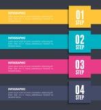 Números y plantilla infographic de los pasos Fotografía de archivo libre de regalías