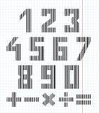 Números y símbolos Fotografía de archivo libre de regalías