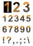 Números y símbolos stock de ilustración