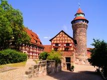 Nürnberg-Schloss lizenzfreie stockbilder