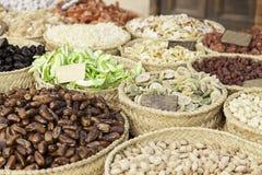 Nüsse in einem Markt Stockfotografie