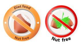 Nüsse geben frei Lizenzfreie Stockbilder