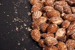 Nüsse, gesalzene Mandeln Lizenzfreies Stockfoto