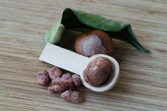 Nüsse mit Getreide Stockbilder