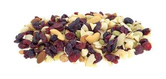 Nüsse und Fruchtspur mischen Teil auf einem weißen Hintergrund Lizenzfreies Stockbild