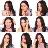 Nützliche Gesichter lizenzfreies stockfoto