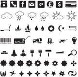 Nützliche Ikonen und Symbole Stockbild