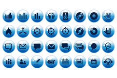 Nützliche Web-Tasten im Aqua Lizenzfreies Stockbild