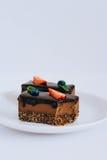 Nützlicher roher Schokoladennachtisch Stockfoto