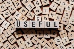 Nützliches Wortkonzept stockfotos
