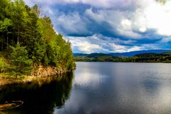 Nýrsko water reservoir - Beautiful view royalty free stock photography