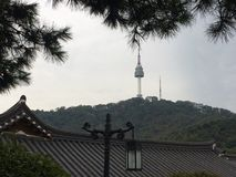 N汉城塔 库存照片