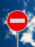N'écrivez pas le poteau de signalisation Photo libre de droits