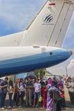 N250-100 было создано и было изготовлено Индонезией стоковые фото