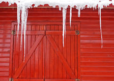 n śniegu drewna Obrazy Royalty Free