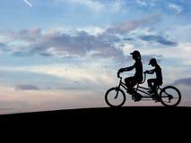 n 1 rowerowy niebo Obraz Royalty Free