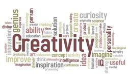 λέξη δημιουργικότητας σύν&n Στοκ Εικόνα