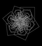 N77 abstracto en fondo negro Fotos de archivo