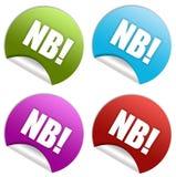 N.B.-etikett Arkivbild