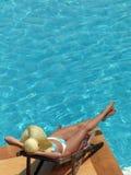 n basenu kobieta Zdjęcia Royalty Free