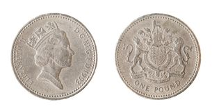 Één Brits pondmuntstuk Royalty-vrije Stock Fotografie