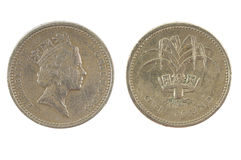 Één Brits pondmuntstuk Royalty-vrije Stock Afbeeldingen