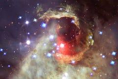 N?buleuse et galaxies dans l'espace ?l?ments de cette image meubl?s par la NASA photographie stock libre de droits