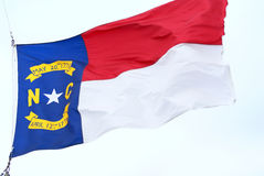 N.C. Flag 02. Flag of North Carolina waving in the wind Stock Photos