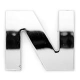 N - Carta del metal imagen de archivo libre de regalías