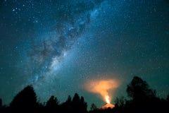 22-04-2017 ³ n, Chile de Pucà Volcán de Villarrica imagenes de archivo