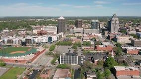 N?cleo norte de Greensboro Carolina Downtown City Skyline Urban filme