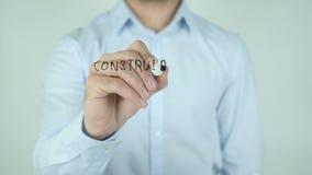 ³ n Construir Una RelaciÃ, сочинительство отношения строения в испанском языке на стекле сток-видео