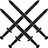 Nó das espadas medievais Fotografia de Stock