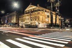 ³ n de Buenos Aires Teatro Colà na noite Imagens de Stock Royalty Free